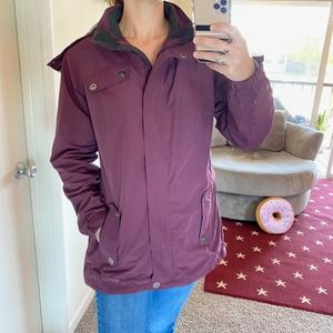 Eddie Bauer burgundy hooded winter jacket large